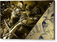 Avengers Collection Acrylic Print by Marvin Blaine