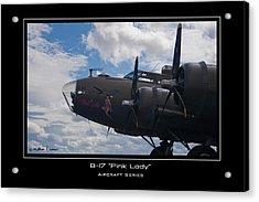 B-17 Pink Lady Acrylic Print by Mathias Rousseau