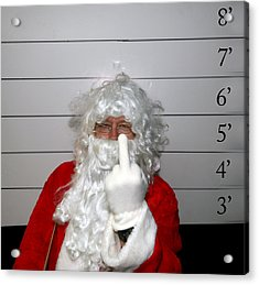 Bad Santa Acrylic Print by Michael Ledray