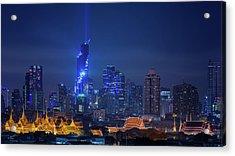 Bangkok Cityscape Acrylic Print