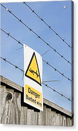 Barbed Wire Fence Acrylic Print