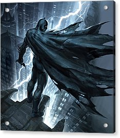 Batman The Dark Knight Returns 2012 Acrylic Print by Unknown