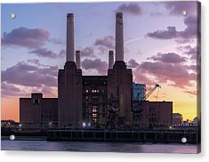 Acrylic Print featuring the photograph Battersea Power Station by Stewart Marsden