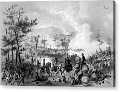 Acrylic Print featuring the drawing Battle Of Gettysburg by War Is Hell Store
