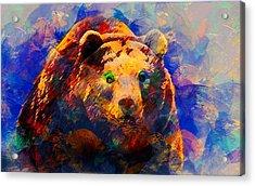 Bear Acrylic Print by Elena Kosvincheva