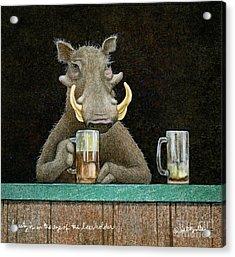 Beauty Is In The Eye Of The Beerholder... Acrylic Print
