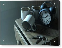 Bedside Table Insomnia Scene Acrylic Print by Allan Swart