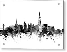 Bern Switzerland Skyline Acrylic Print by Michael Tompsett
