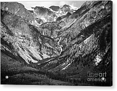 Between Eagles Nest And Rangers Peaks Glacial Waterfall And Cascade Scenic Grand Teton National Park Acrylic Print by Shawn O'Brien