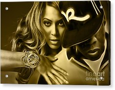 Beyonce Jay Z Collection Acrylic Print by Marvin Blaine