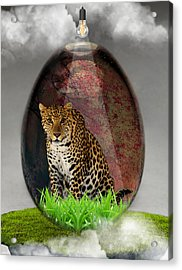 Big Cat Leopard Art Acrylic Print