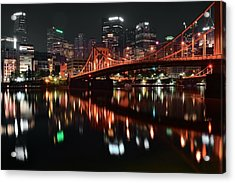 Black Night In Pittsburgh Acrylic Print