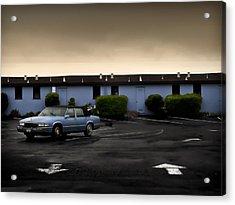 Blue Motel Acrylic Print by John Hansen