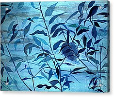 Blue On Blue Acrylic Print by Vivian  Mosley