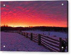 Acrylic Print featuring the photograph Blue Ridge Parkway Sunrise by Bernard Chen