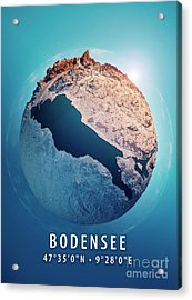 Bodensee 3d Little Planet 360-degree Sphere Panorama Acrylic Print