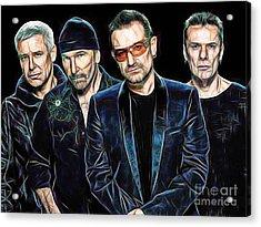 Bono U2 Collection Acrylic Print by Marvin Blaine