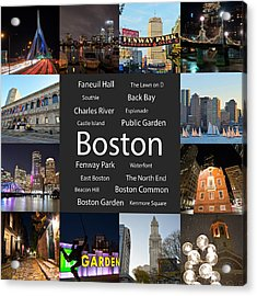 Boston Ma Collage Acrylic Print