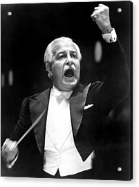 Boston Pops Orchestra Conductor, Arthur Acrylic Print by Everett