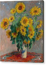 Bouquet Of Sunflowers Acrylic Print