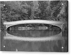 Bow Bridge Central Park Acrylic Print by Christopher Kirby