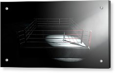 Boxing Ring Corner Lit Acrylic Print