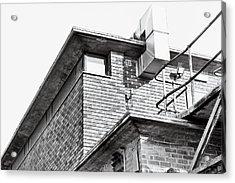 Brick Building Acrylic Print by Tom Gowanlock