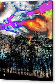 Bright Braddock Sunset Acrylic Print