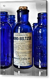 Bromo Seltzer Vintage Glass Bottles Collection Acrylic Print
