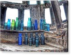 Bromo Seltzer Vintage Glass Bottles  Acrylic Print