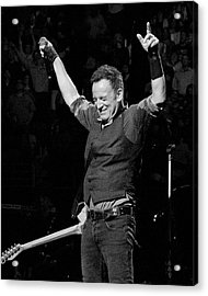 Bruce Springsteen Acrylic Print by Jeff Ross