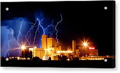 Budweiser Lightning Thunderstorm Moving Out Crop Acrylic Print