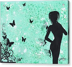 Butterfly Silhouette Acrylic Print