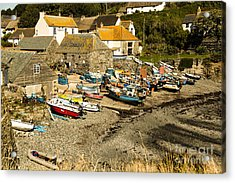 Acrylic Print featuring the photograph Cadgwith Cove by Brian Roscorla