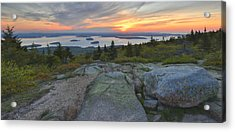 Acrylic Print featuring the photograph Cadillac Mountain Sunrise by Stephen  Vecchiotti