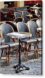 Cafe Terrace In Paris Acrylic Print