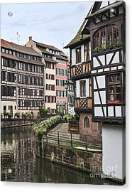 Canals Of Strasbourg Acrylic Print by Yefim Bam