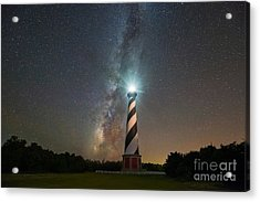 Cape Hatteras Lighthouse Milky Way Acrylic Print by Michael Ver Sprill