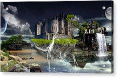Castle In The Sky Art Acrylic Print by Marvin Blaine