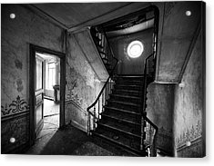 Castle Stairs - Abandoned Building Acrylic Print by Dirk Ercken