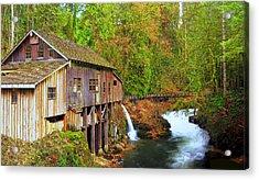 Cedar Creek Grist Mill Acrylic Print by Steve Warnstaff