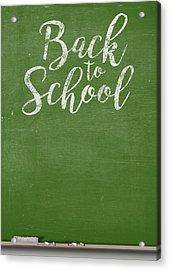 Chalk Board Acrylic Print