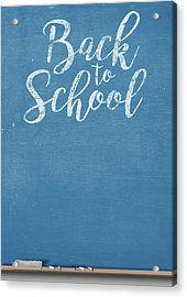 Chalk Board Split Acrylic Print