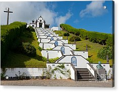 Chapel In Azores Islands Acrylic Print