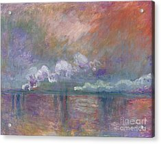 Charing Cross Bridge Acrylic Print by Claude Monet