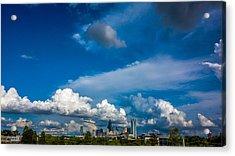 Charlotte North Carolina City Skyline Acrylic Print by Alex Grichenko