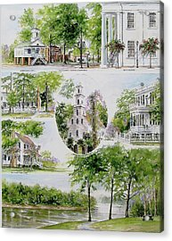 Cheraw Collage Acrylic Print