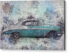 Acrylic Print featuring the photograph Chevy Bel Air by Joel Witmeyer