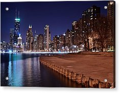 Chicago From The North Acrylic Print by Frozen in Time Fine Art Photography