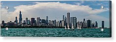 Acrylic Print featuring the photograph Chicago Skyline by Joel Witmeyer